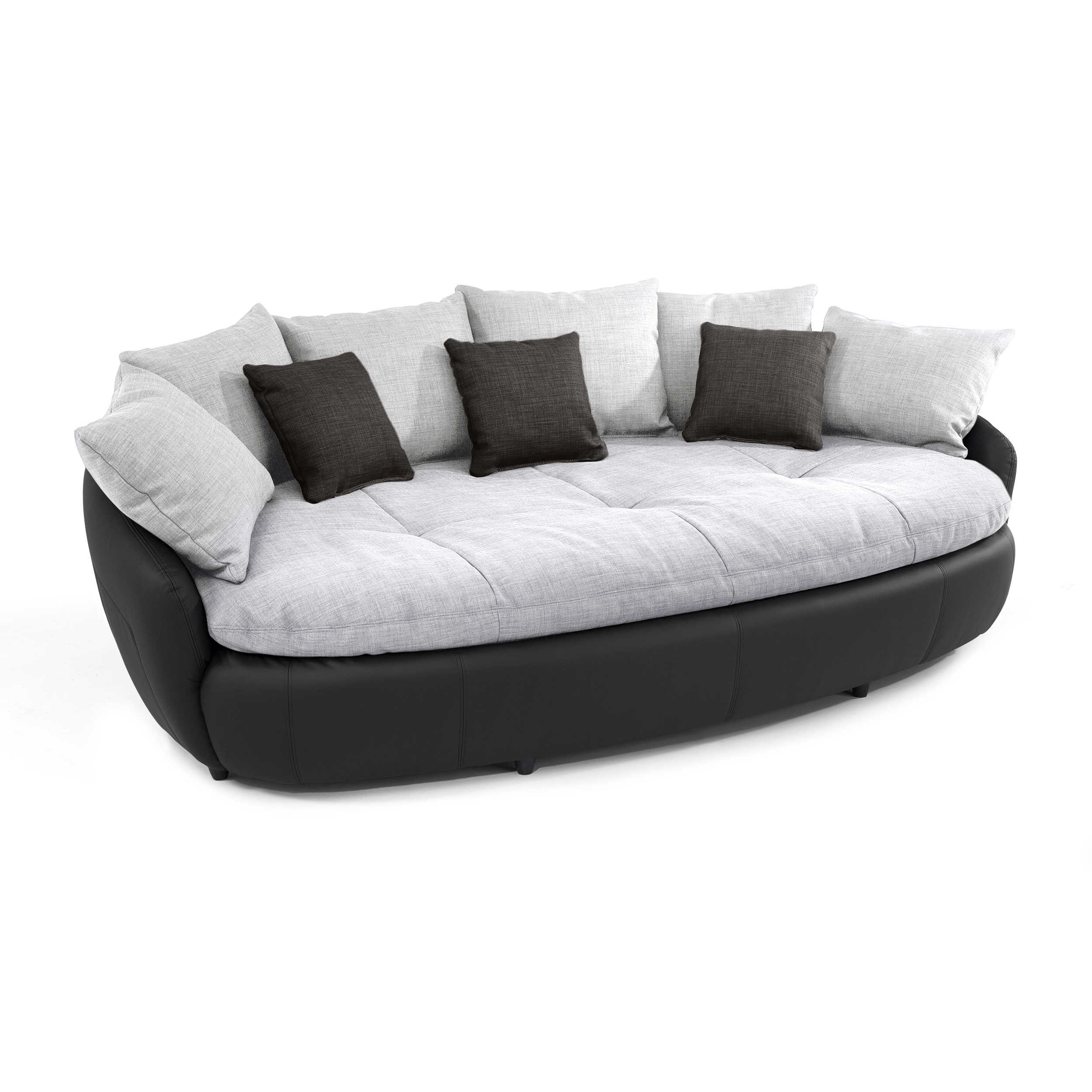 sofa aruba grau stoff online kaufen bei woonio. Black Bedroom Furniture Sets. Home Design Ideas