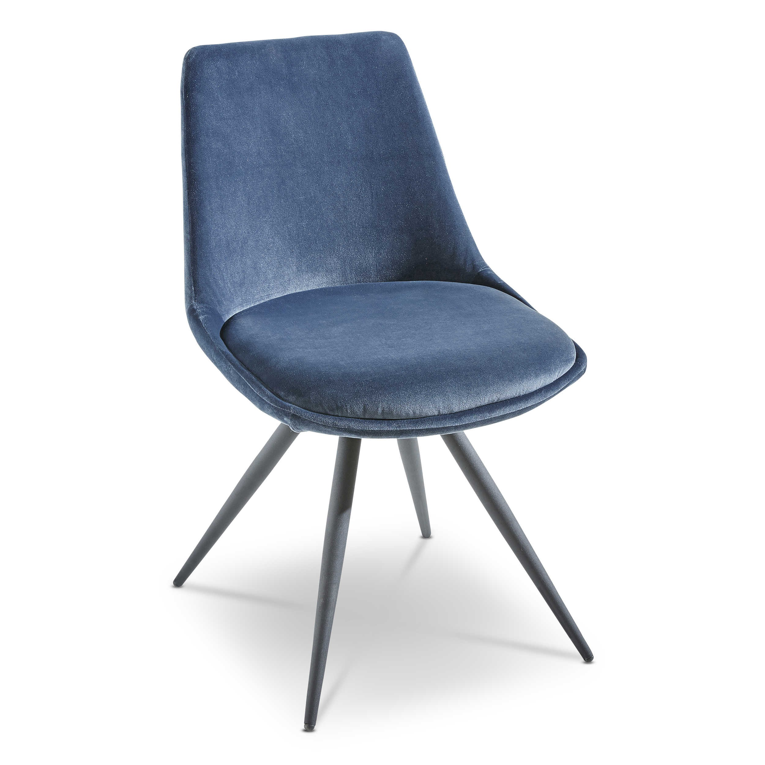 stuhl girona 2er set blau stoff online kaufen bei woonio. Black Bedroom Furniture Sets. Home Design Ideas