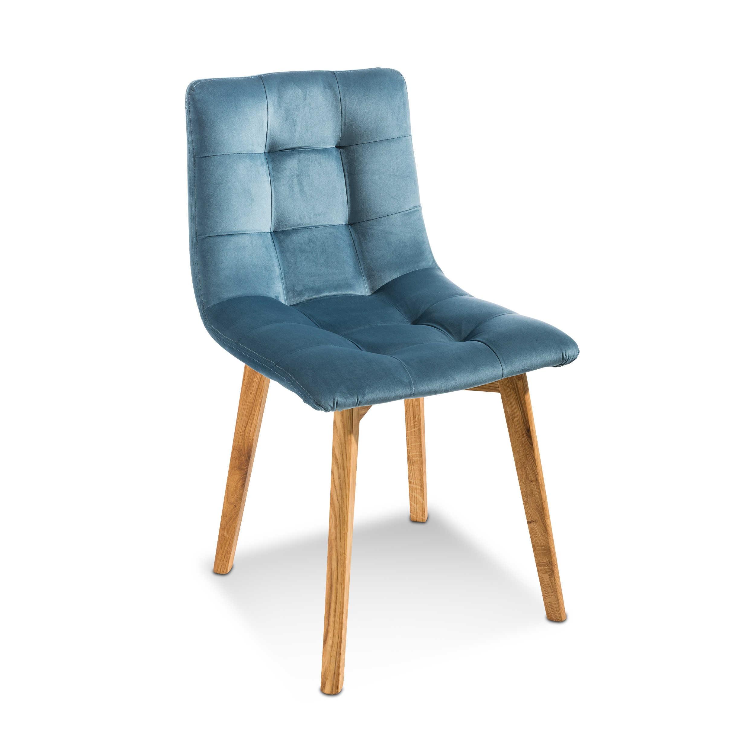 stuhl max 2er set blau stoff online kaufen bei woonio. Black Bedroom Furniture Sets. Home Design Ideas