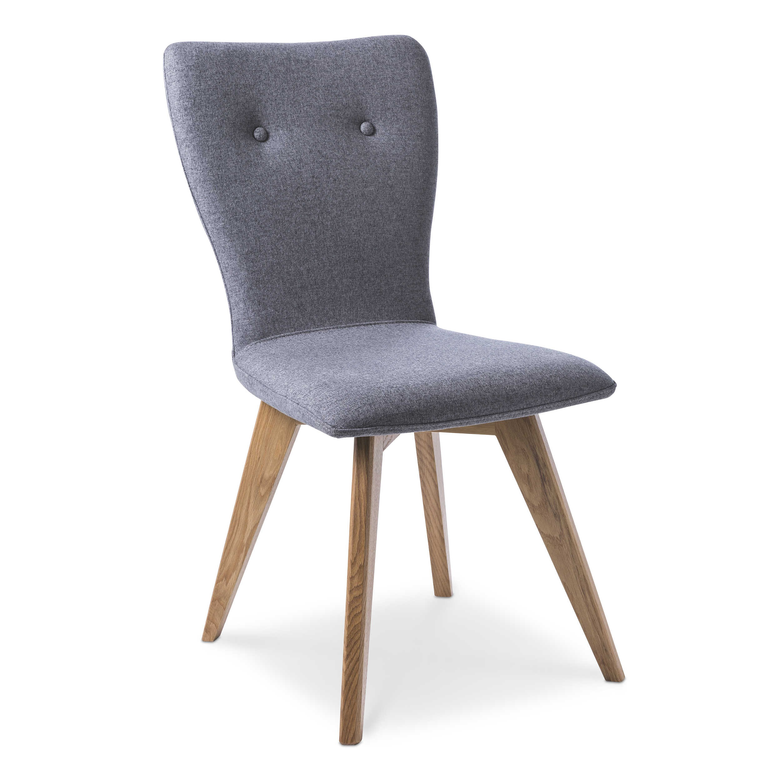 Elegant Esszimmerstühle Grau Stoff Foto Von