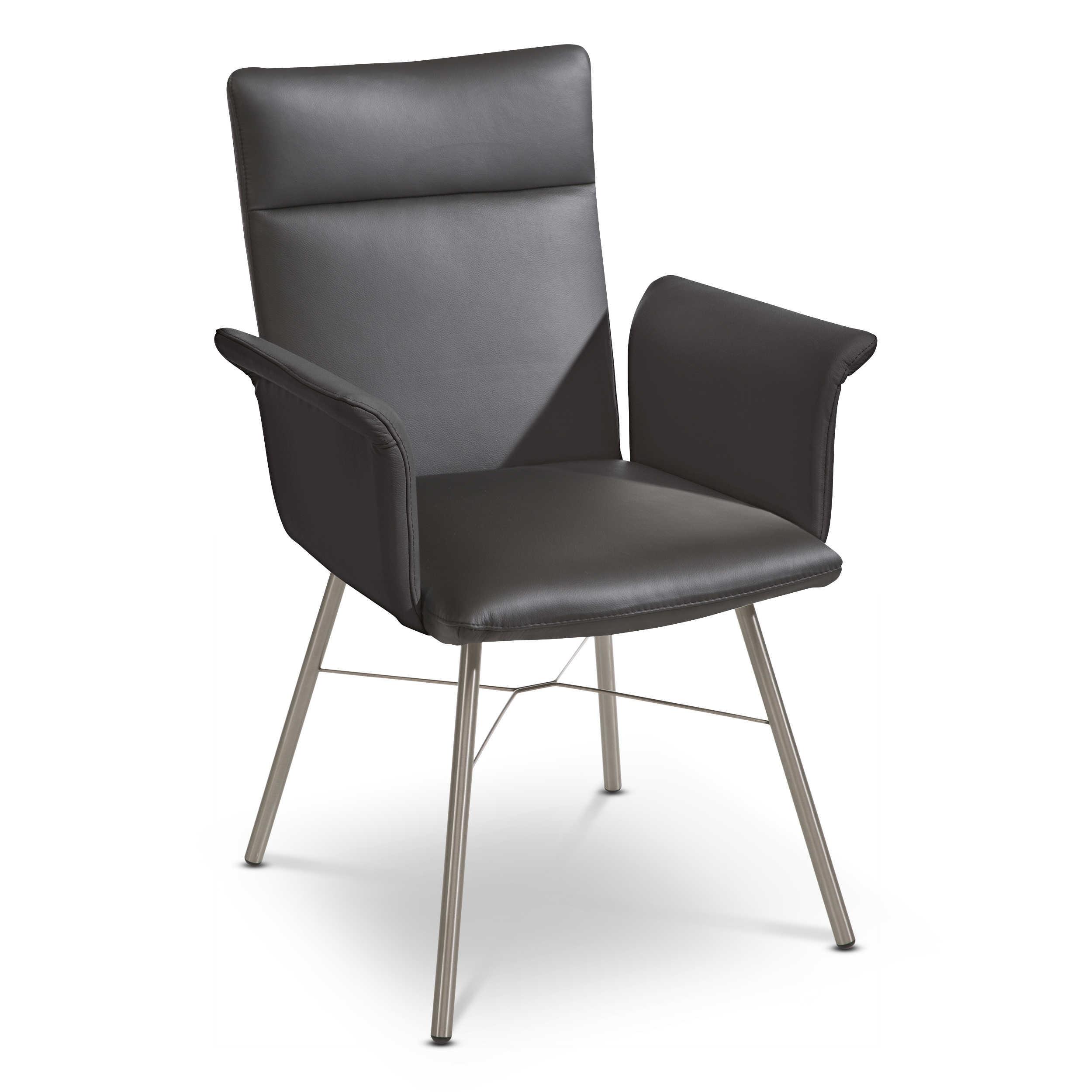 stuhl venedig schwarz leder online kaufen bei woonio. Black Bedroom Furniture Sets. Home Design Ideas