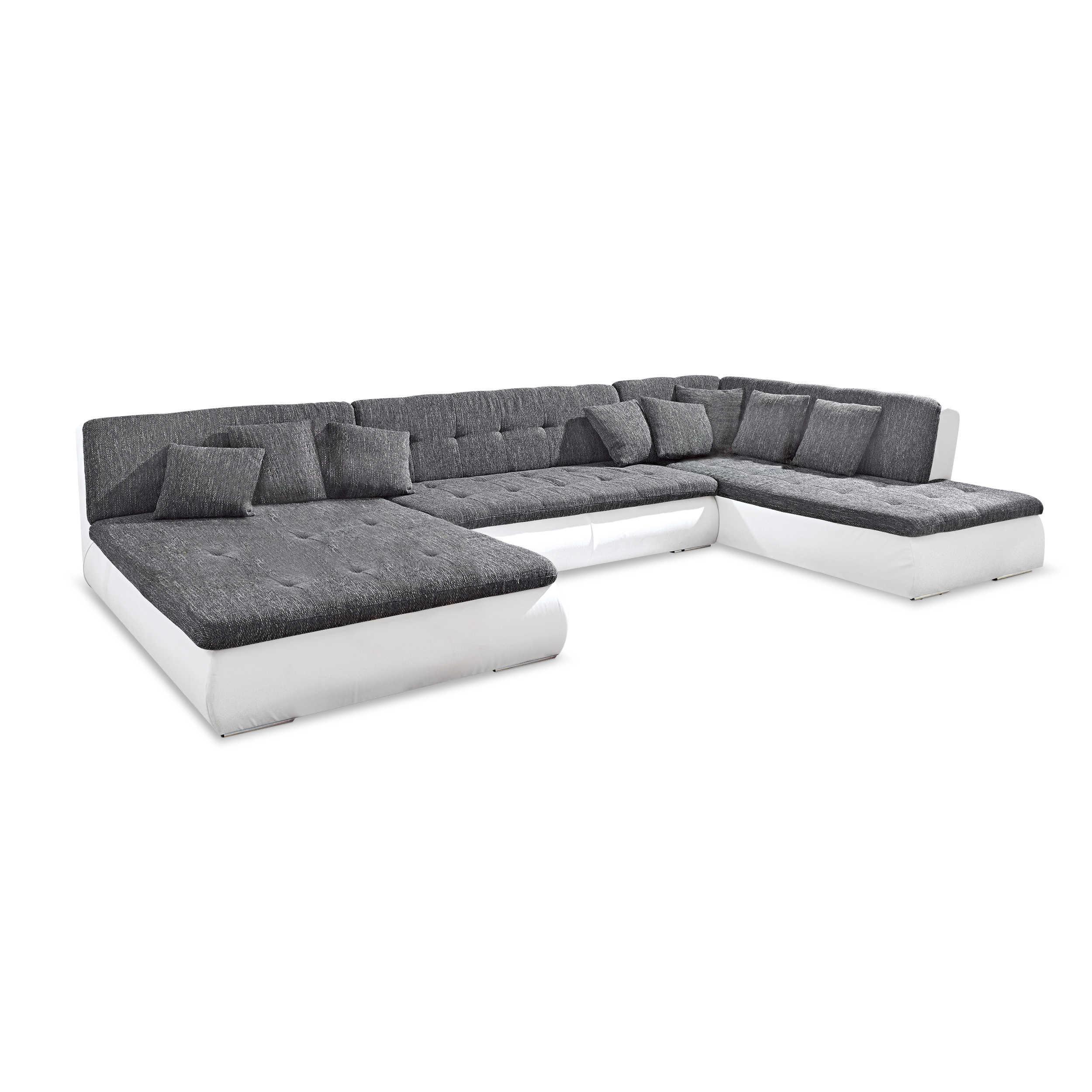 wohnlandschaft povo grau stoff online kaufen bei woonio. Black Bedroom Furniture Sets. Home Design Ideas
