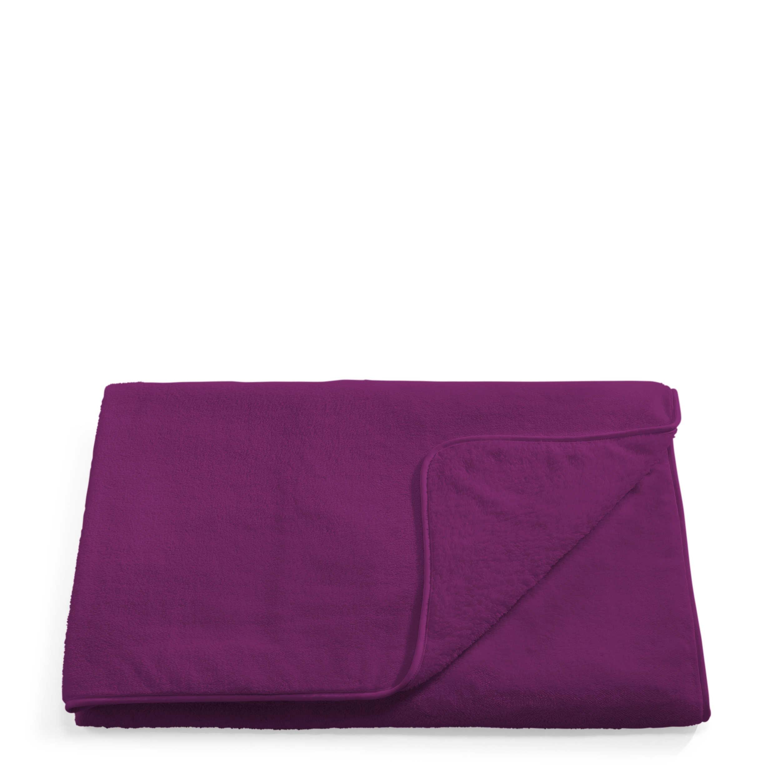 s oliver kuscheldecke wellsoft 150 x 200 cm lila polyester 150 x 200 cm online kaufen bei woonio. Black Bedroom Furniture Sets. Home Design Ideas