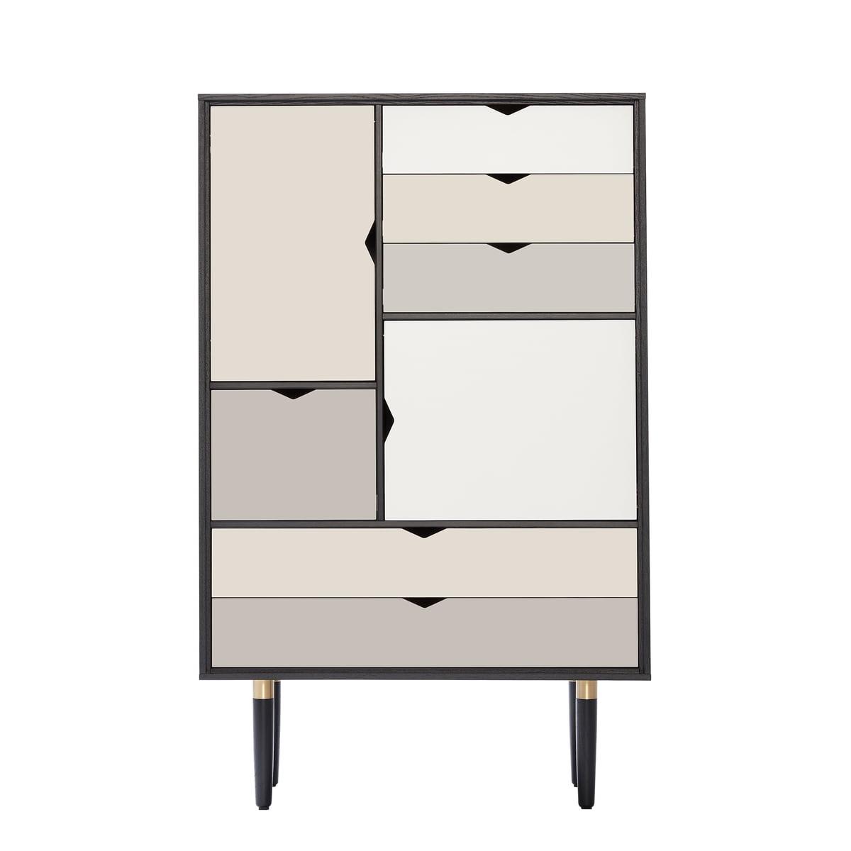bescheiden wohnzimmer schwarz silber beige - andersen furniture s5 kommode eiche schwarz lackiert
