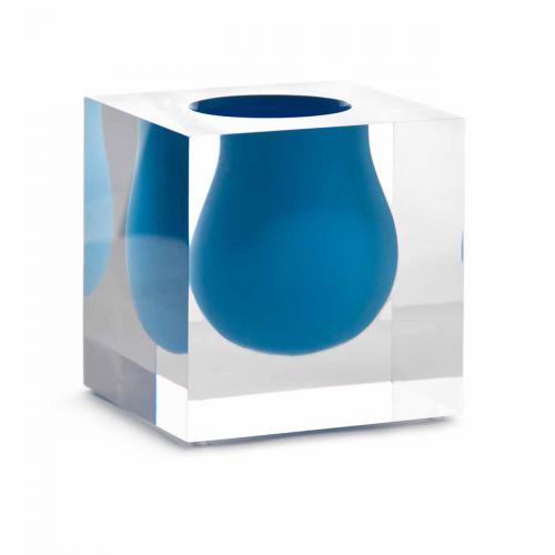 Bel Air Mini Scoop Vase türkis von Jonathan Adlertürkis