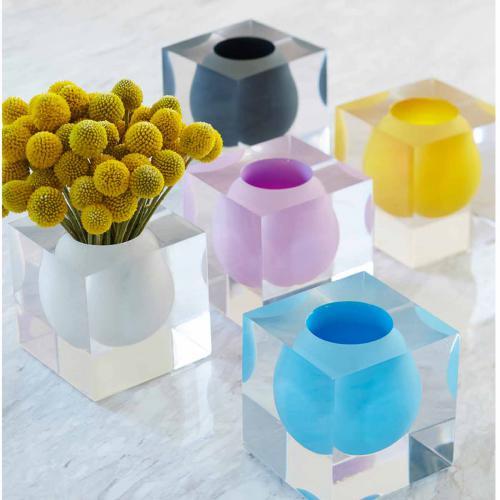 Bel Air Mini Scoop Vase weiß von Jonathan Adlerweiß
