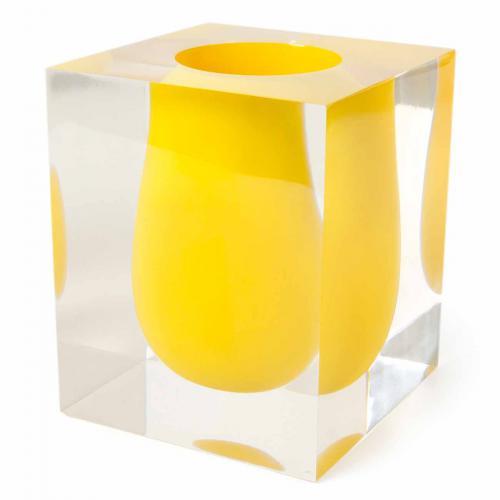 Bel Air Scoop Vase gelb von Jonathan Adlergelb