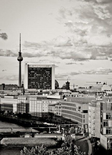 Berlin Sunset Leinwandbild