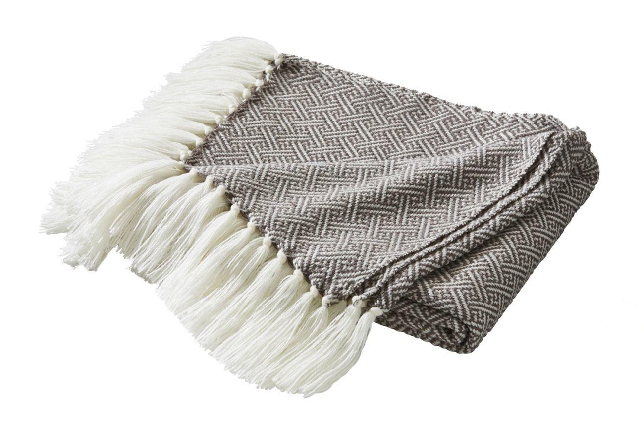 biederlack contrast style decke mit fransen online kaufen bei woonio. Black Bedroom Furniture Sets. Home Design Ideas