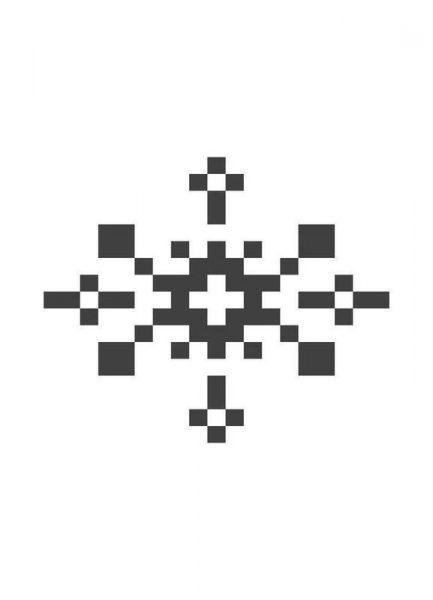 Black Snowflake 1 Leinwandbild