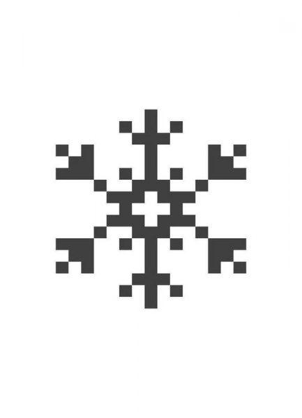 Black Snowflake 2 Leinwandbild