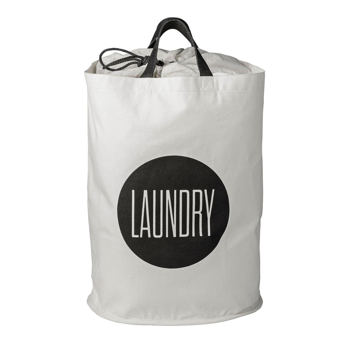 bloomingville w schekorb laundry schwarz wei schwarz wei h 50 online kaufen bei woonio. Black Bedroom Furniture Sets. Home Design Ideas