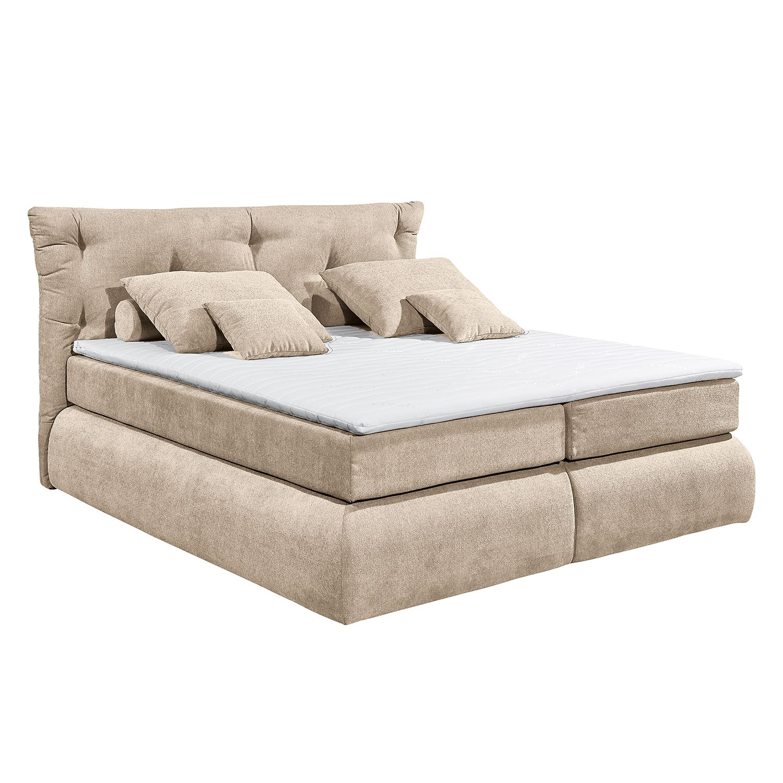 boxspringbett bannon microvelours beige fredriks online kaufen bei woonio. Black Bedroom Furniture Sets. Home Design Ideas