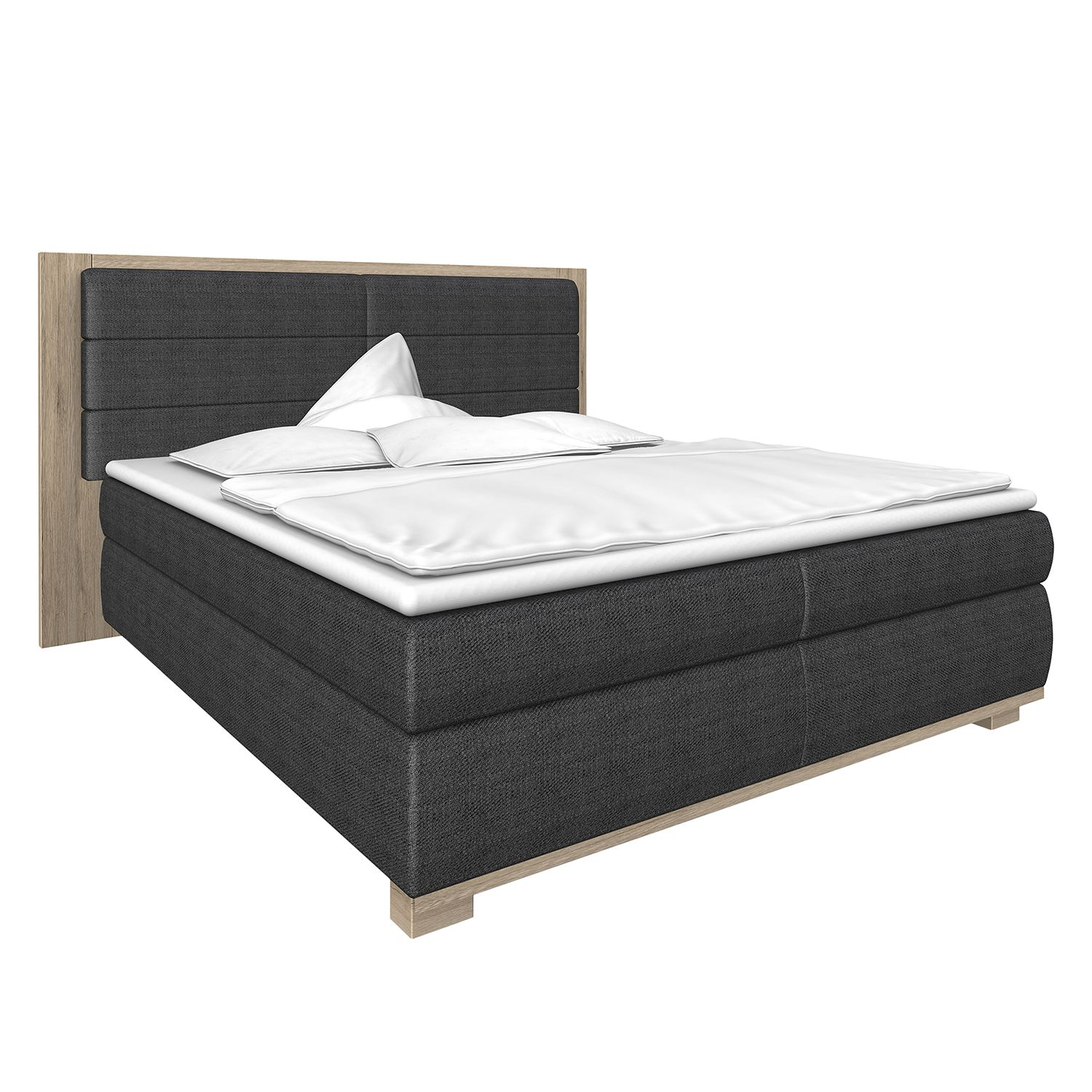 boxspringbett ohio kaltschaumtopper anthrazit schlammeiche dekor wimex online kaufen bei. Black Bedroom Furniture Sets. Home Design Ideas