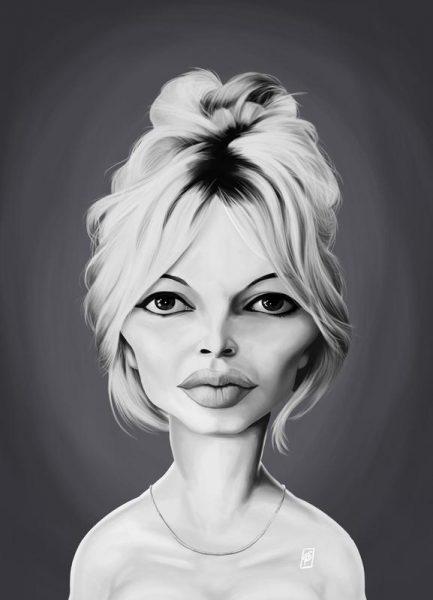 Brigitte Bardot Leinwandbild