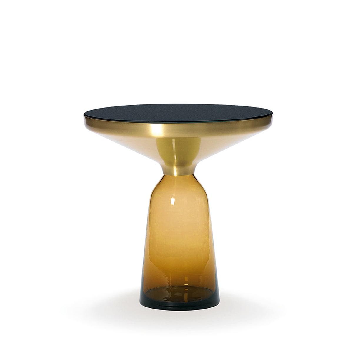 classicon bell beistelltisch messing bernstein orange. Black Bedroom Furniture Sets. Home Design Ideas