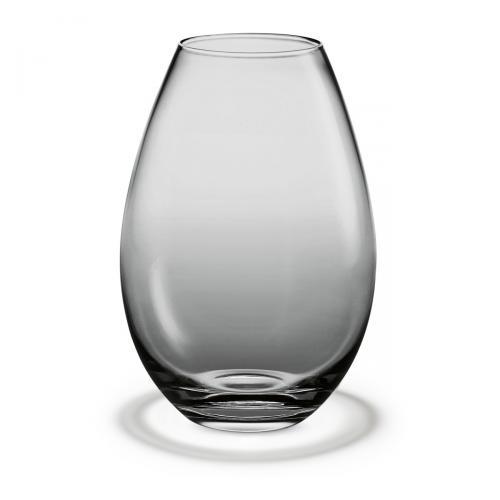 Cocoon Vase smoke H 17grau