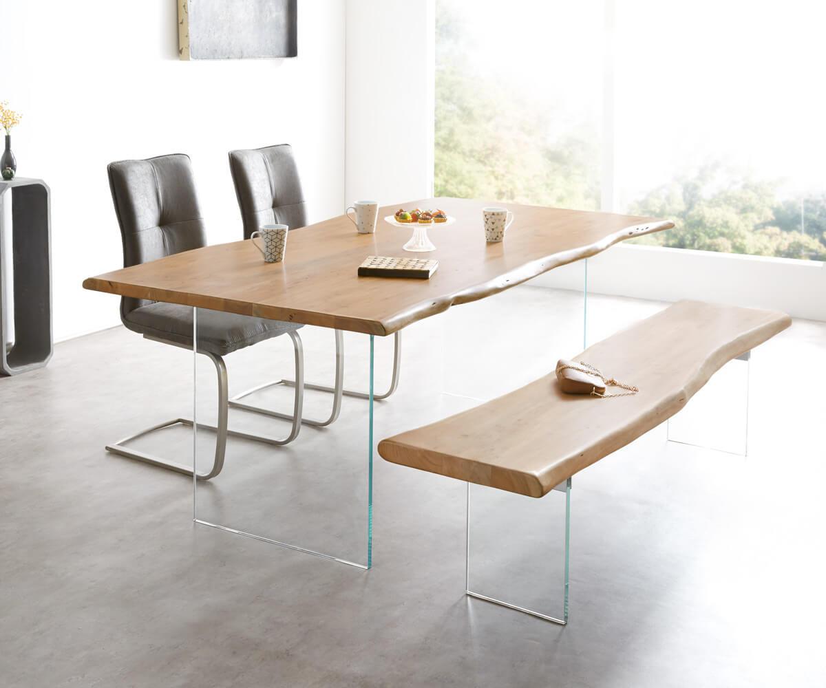 delife baumtisch live edge 200x100 akazie natur platte 3 5. Black Bedroom Furniture Sets. Home Design Ideas