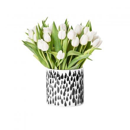 Deco Vase Rain weiß