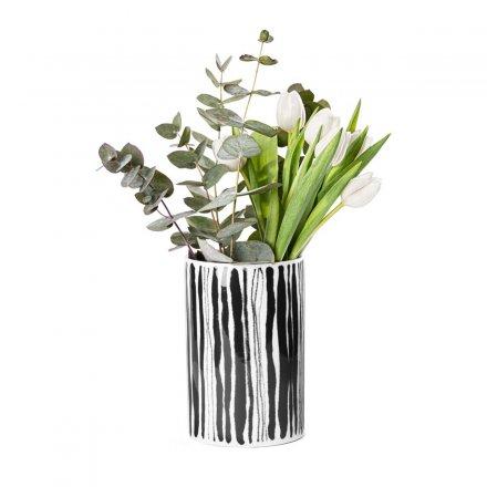 Deco Vase Straw weiß