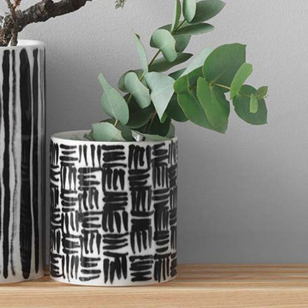 Deco Vase Tiles weiß