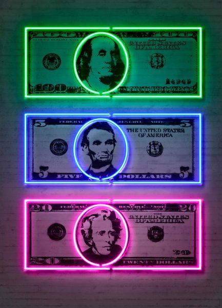 Dollars Leinwandbild