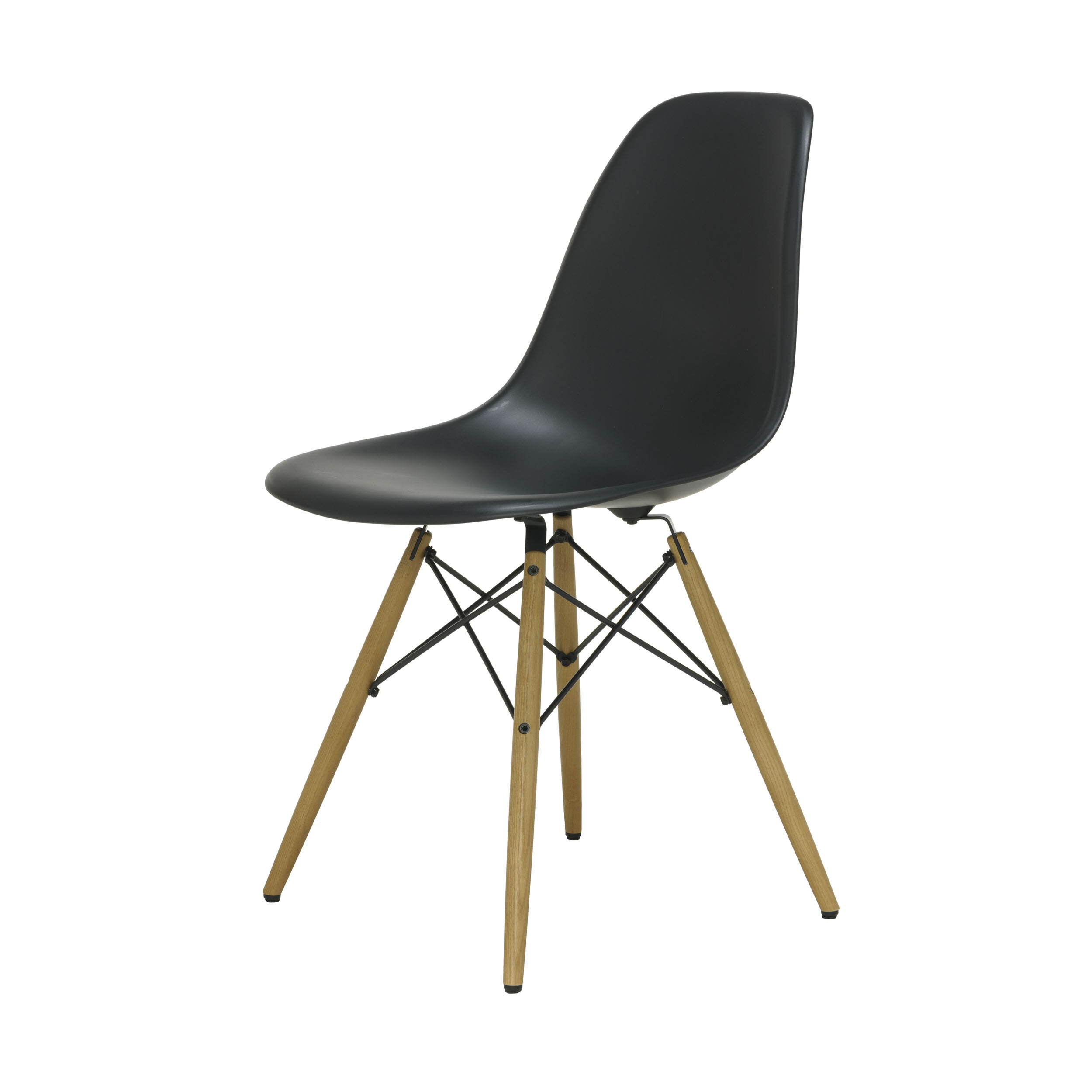 eames plastic side chair stuhl dsw mit filzgleitern basic dark esche neue ma e. Black Bedroom Furniture Sets. Home Design Ideas