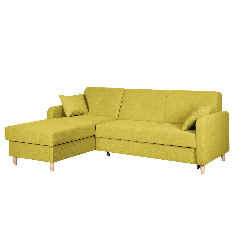 Ecksofa clintwood mit schlaffunktion webstoff longchair for Ecksofa schlaffunktion klein