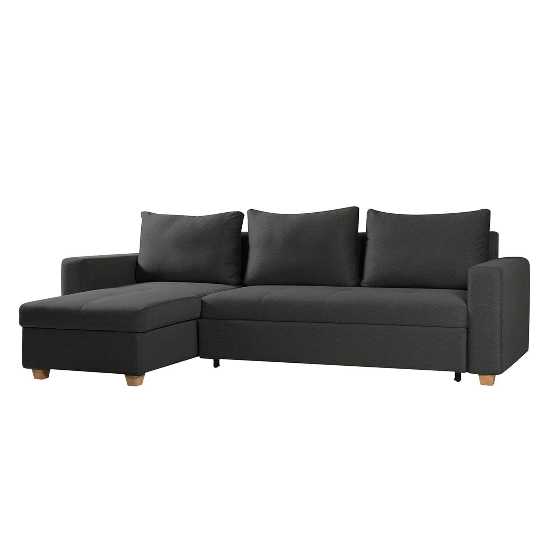 ecksofa crandon mit schlaffunktion webstoff longchair. Black Bedroom Furniture Sets. Home Design Ideas