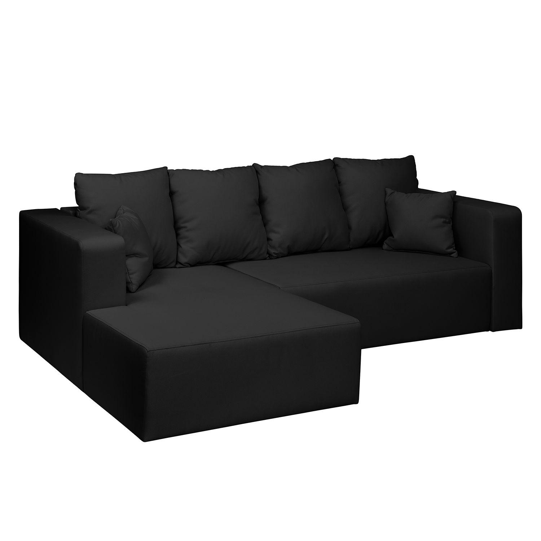 ecksofa freer mit schlaffunktion webstoff longchair ottomane davorstehend links anthrazit. Black Bedroom Furniture Sets. Home Design Ideas