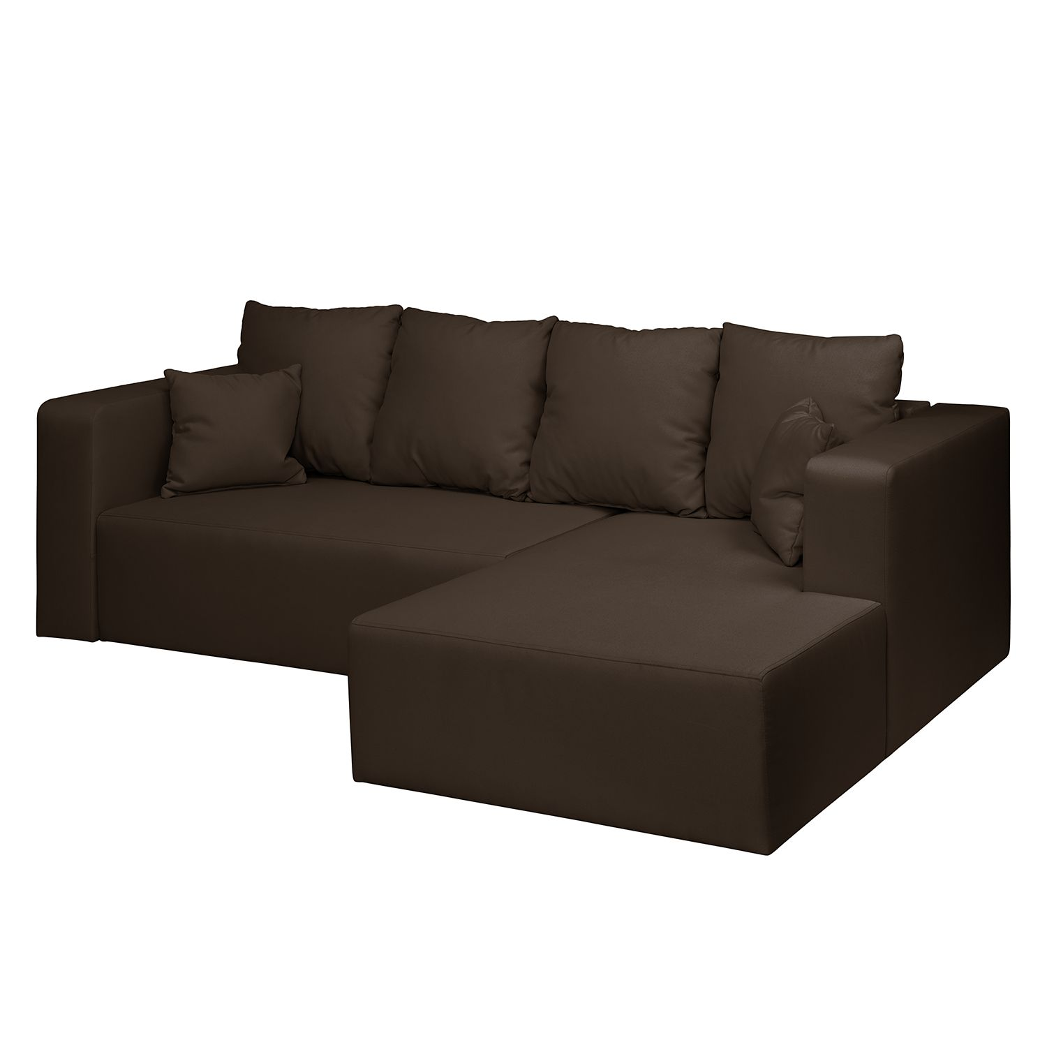 ecksofa freer mit schlaffunktion webstoff longchair ottomane davorstehend rechts espresso. Black Bedroom Furniture Sets. Home Design Ideas