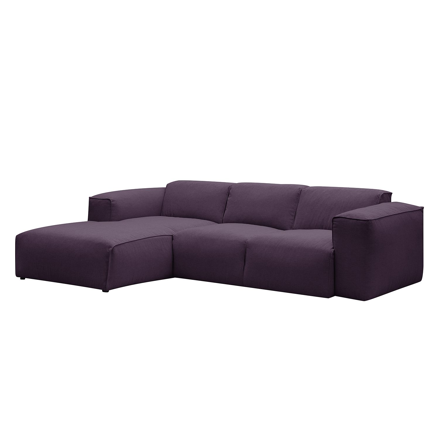 ecksofa hudson iii webstoff longchair ottomane davorstehend links stoff anda ii violett. Black Bedroom Furniture Sets. Home Design Ideas