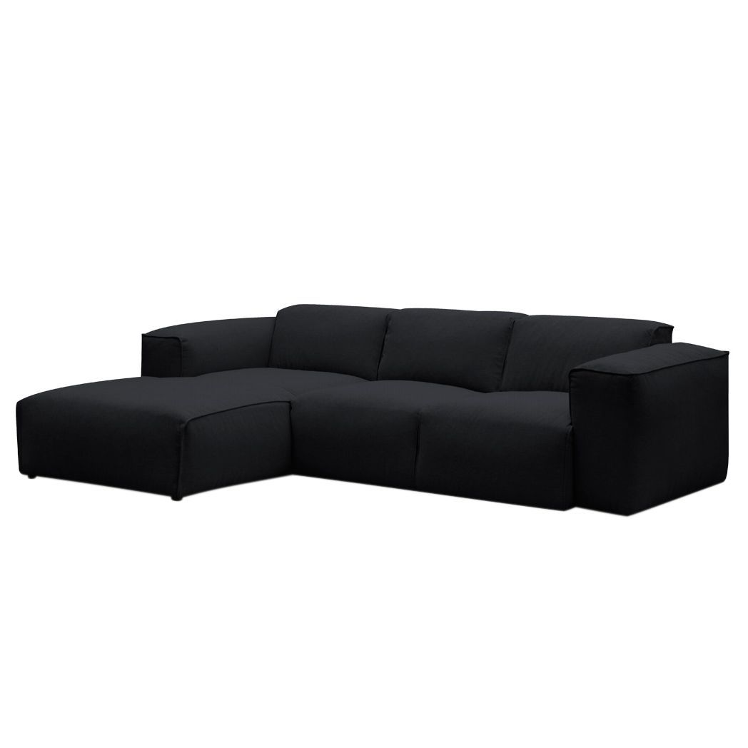 ecksofa hudson iii webstoff longchair ottomane davorstehend links stoff saia anthrazit. Black Bedroom Furniture Sets. Home Design Ideas