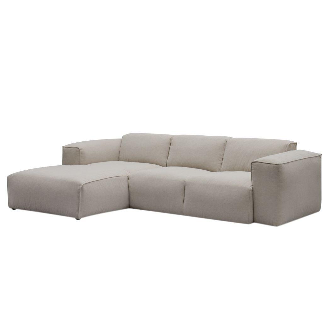 ecksofa hudson iii webstoff longchair ottomane davorstehend links stoff saia beige studio. Black Bedroom Furniture Sets. Home Design Ideas