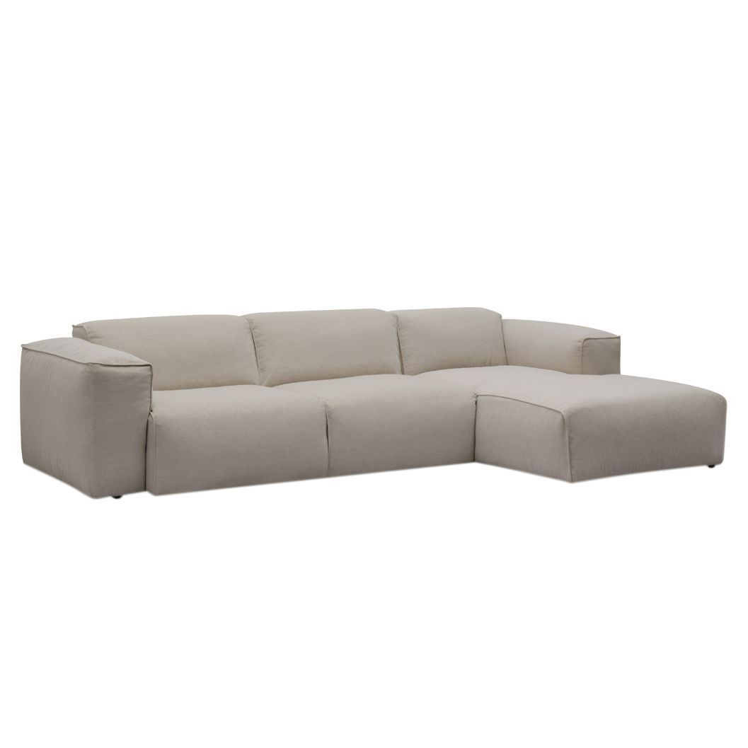 ecksofa hudson iv webstoff longchair ottomane davorstehend rechts stoff saia beige studio. Black Bedroom Furniture Sets. Home Design Ideas