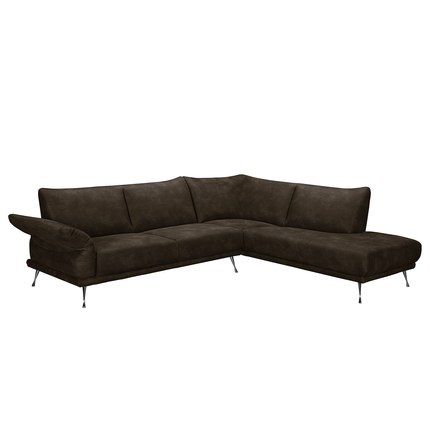 ecksofa milan microfaser ottomane davorstehend rechts espresso loftscape online kaufen. Black Bedroom Furniture Sets. Home Design Ideas