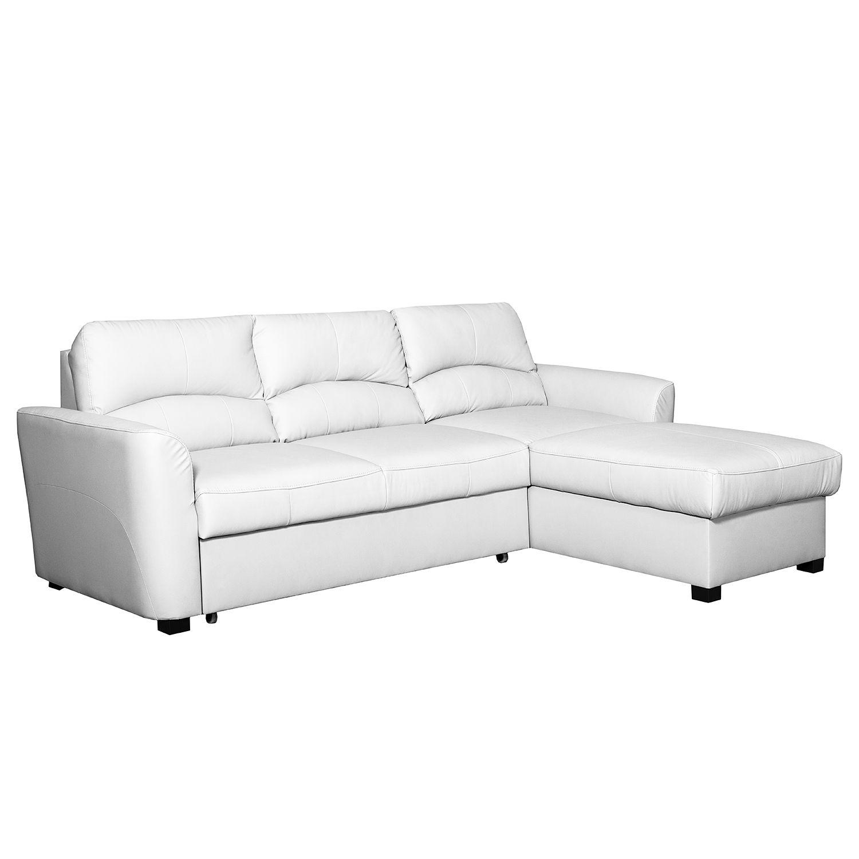 ecksofa parilla mit schlaffunktion kunstleder longchair davorstehend rechts wei. Black Bedroom Furniture Sets. Home Design Ideas