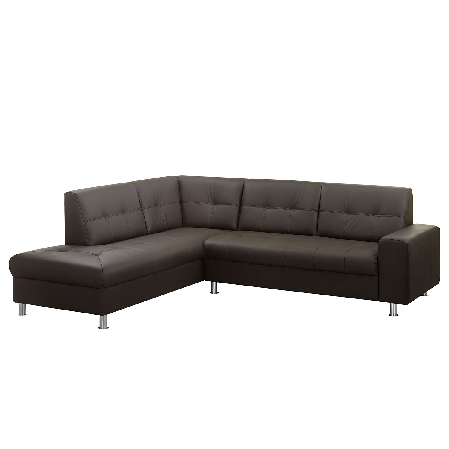 ecksofa straid i echtleder kunstleder ottomane davorstehend links espresso roomscape. Black Bedroom Furniture Sets. Home Design Ideas
