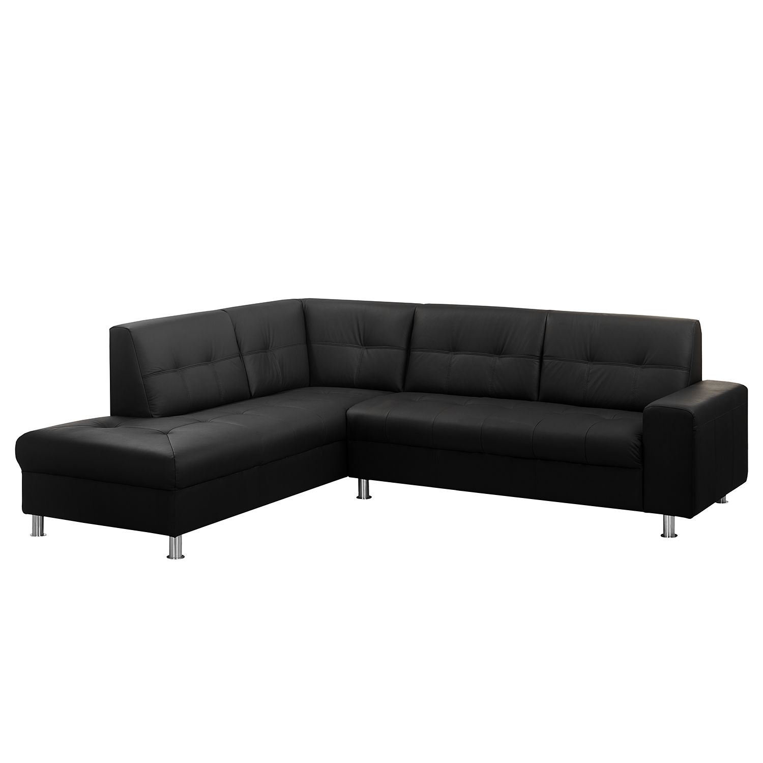 ecksofa straid i echtleder kunstleder ottomane. Black Bedroom Furniture Sets. Home Design Ideas