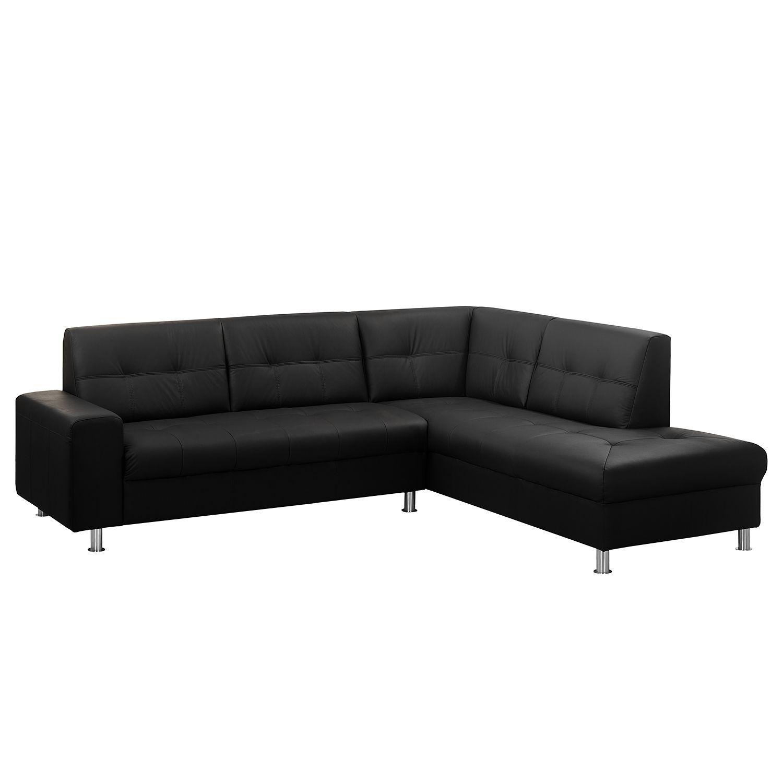ecksofa straid i echtleder kunstleder ottomane davorstehend rechts schwarz roomscape. Black Bedroom Furniture Sets. Home Design Ideas