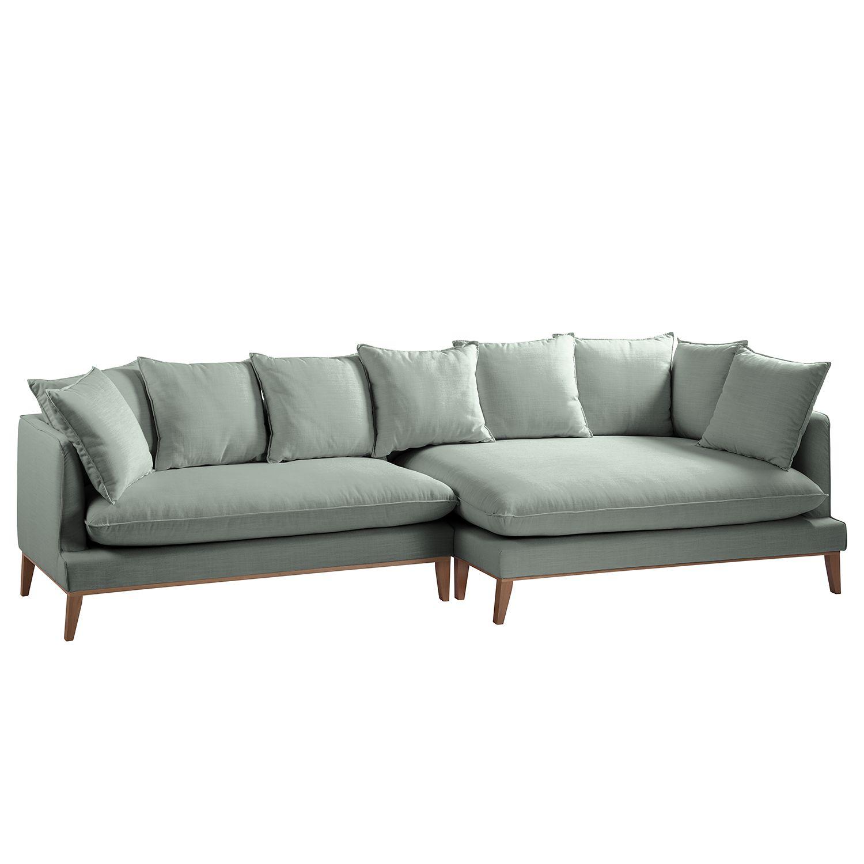 ecksofa xl lavina webstoff ottomane davorstehend rechts stoff moretey mint eva padberg. Black Bedroom Furniture Sets. Home Design Ideas