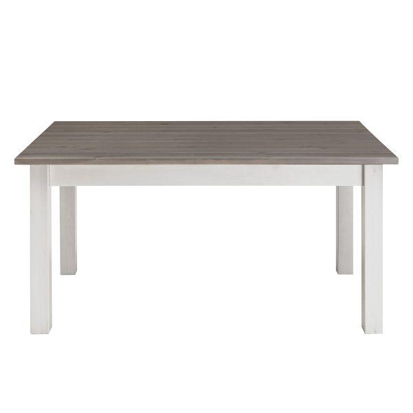 Esstisch Boston I - Kiefer massiv - Kiefer Weiß / Kiefer Grau - 120 x 78 cm