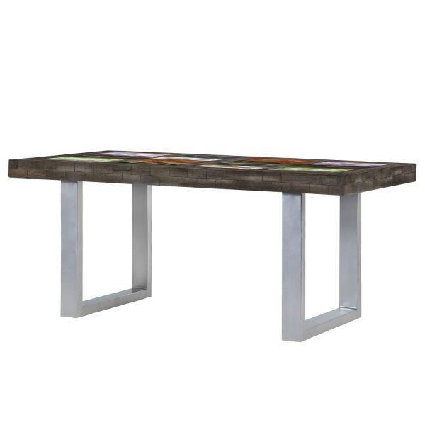 Esstisch Camibar VI - Mango massiv / Metall - Mehrfarbig