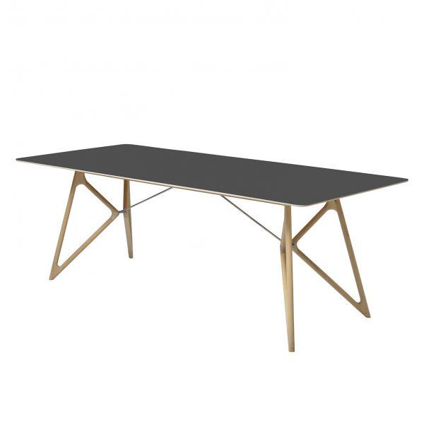 Esstisch Tink - Eiche massiv / Linoleum - Anthrazit / Eiche - 160 x 90 cm