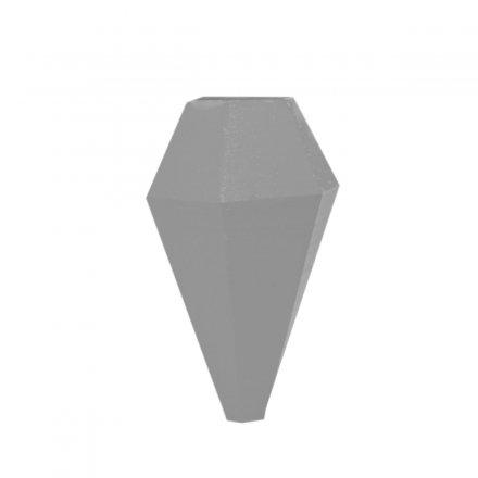 Fahrradvase LOM für horizontale Stangen grau grau Polyamid