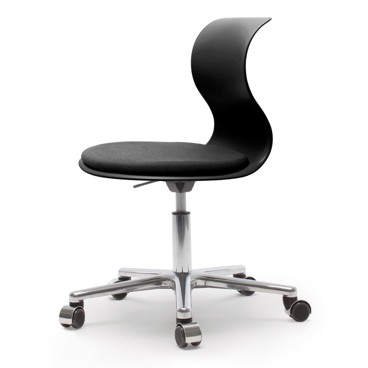 fl totto systemm bel gmbh fl totto pro 6 drehstuhl aluminium poliert graphitschwarz. Black Bedroom Furniture Sets. Home Design Ideas