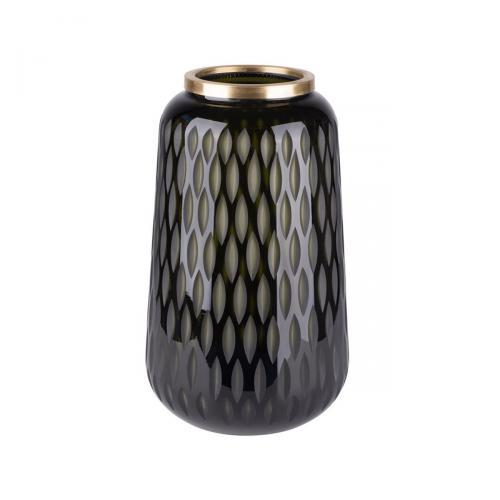 Flagon Vase mit Olivenschliff