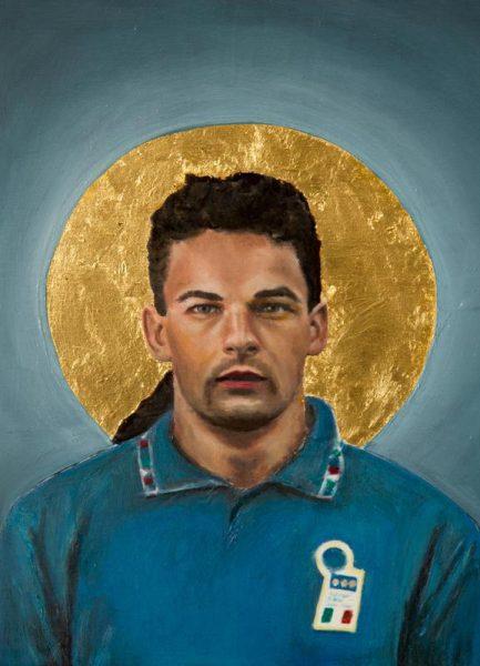 Football Icon Baggio Leinwandbild
