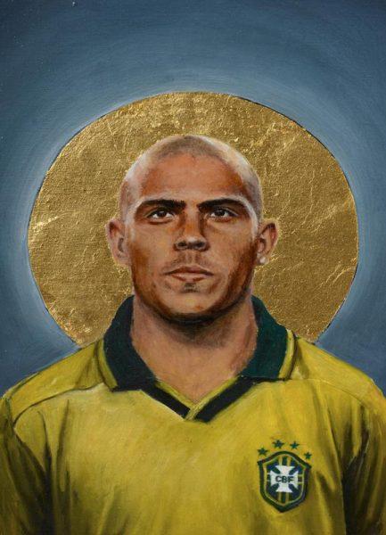 Football Icon Ronaldo Leinwandbild