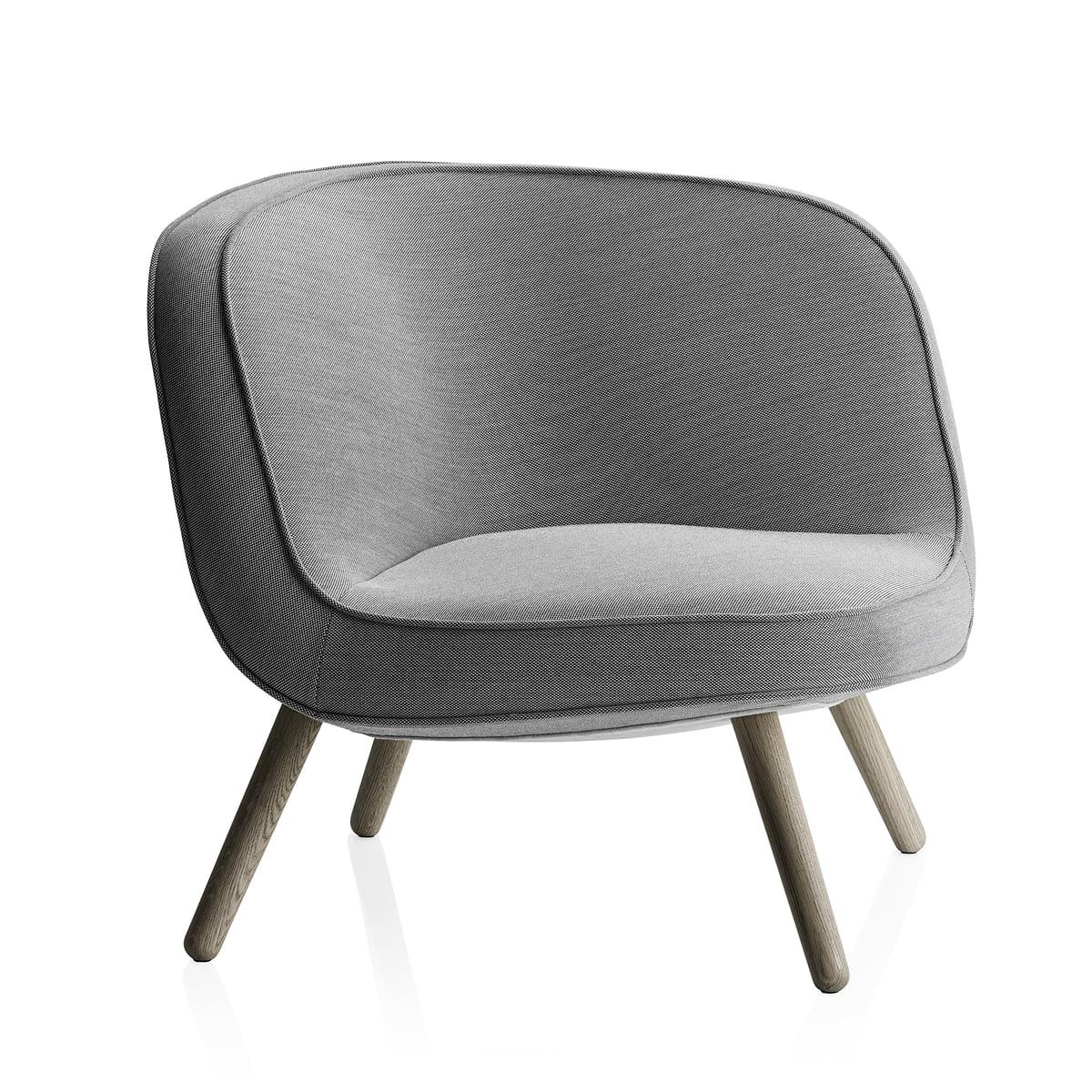 fritz hansen lounge chair via57 eiche schwarz wei. Black Bedroom Furniture Sets. Home Design Ideas